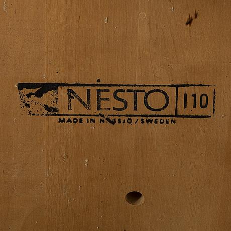 A set of six mid 20th century chairs nesto, nässjö sweden.