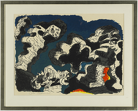 Olle bonniÉr, lithograph in colours, signed olle bonniér and numbered 147/310 in pencil.