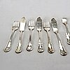 A set of 20th century silverplate fish cutlery for 36 persons.