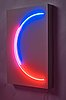 """Stephen antonakos, """"red and blue incomplete circle""""."""