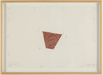 Joel Shapiro, woodcut, 1987, signed in pencil and numbered AP V/XII.