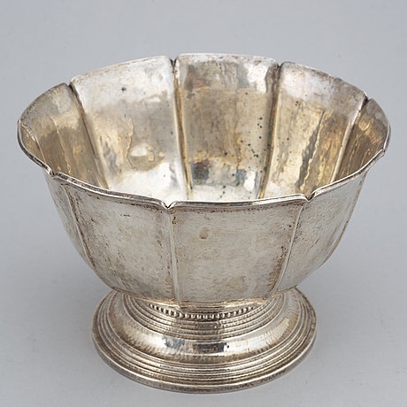 Cg hallberg, a silver bowl, stockholm 1921.