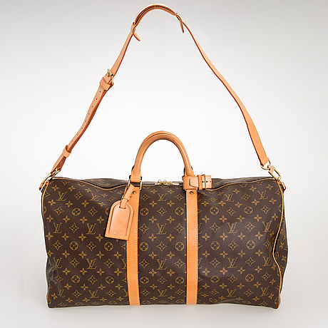 Louis vuitton, 'keepall 55 bandoulière' weekend bag.