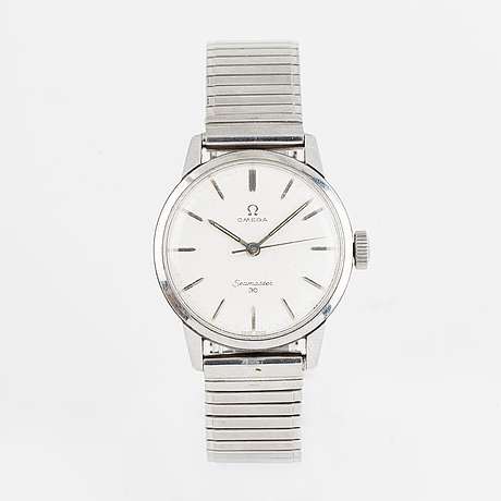 Omega, seamaster 30, linen dial, armbandsur, 35 mm.
