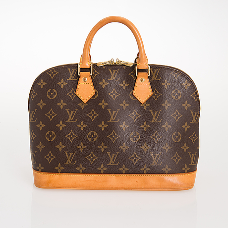 Louis vuitton, 'monogram canvas alma' handbag.