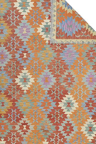 A carpet, kilim, ca 292 x 201 cm.