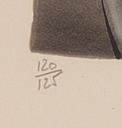 Salvador dalí, färgitografi. signerad och numrerad 120/125.