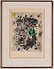 Joan miró, litograph in colour. signed and numbered 283/350.