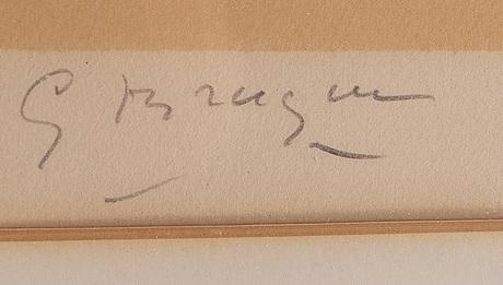 Georges braque, färglitografi, 1958, signerad och numrerad 51/75.