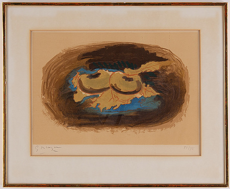 Georges braque, litograph in colours. signed and numbered 51/75.
