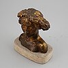 Eric grate, sculpture. brinze. signed. numbered. foundry mark. height (including base 23 cm).