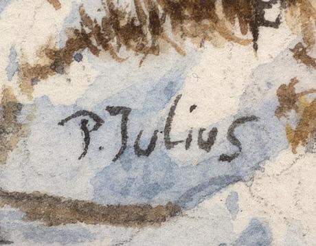 Per julius, a signed water colour.