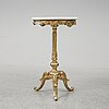 A bronzed 19th century side table.