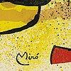 Joan mirÓ, färglitografi, signerad i trycket, ur sculpture, 1974.