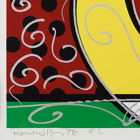 Romero britto, silkscreen, signed with pencil and numbered hc.