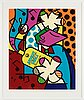 Romero britto, silkscreen signed with pencil and numbered 206/250.