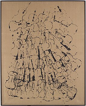 Arman, silkscreen on canvas, signed Arman. Executed in 1971 with an edition of 25.