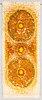 Terttu tomero, ryijy, malli neovius. noin 165x65 cm.