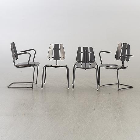 A 1950/60's herman perssons järn- och trämanufaktur i bjärnum garden set. 5 pieces.