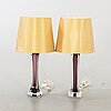 A pair of paul kedelv, flygsfors, fabriks & handelslagret, kosta second half of the 20th century table lamps.