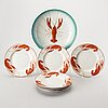 A set of 7 pieces of crayfish service. early/first half of the 20th century.