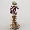 Figurin, porslin, royal copenhagen omkring 1900.
