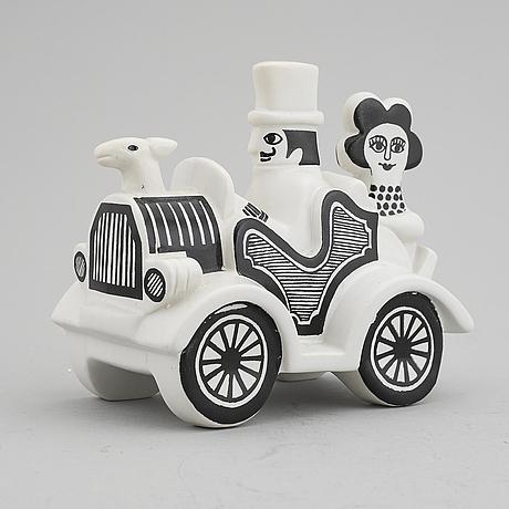 Lisa larson, a 'traffic' stoneware figurine, gustavsberg.