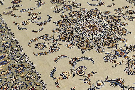 A carpet, so called royal kashan, ca 370 x 280 cm.