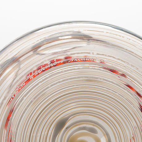 BjÖrn weckstrÖm, lasikarahvi, signeerattu, 1970-luvun puoliväli.