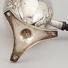 A swedish 19th century silver coffee-pot, marked adolf zethelius, stockholm 1819.