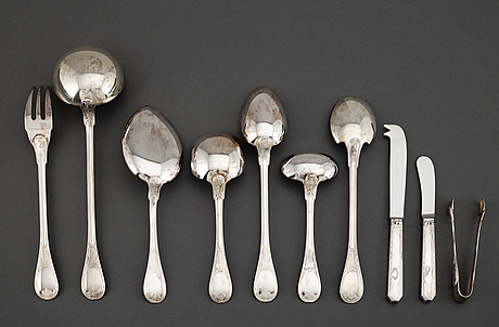 A french 20th century empire-style 162 piece table-service, silver 925/1000, marked cardeilhac, paris 1973-1982.