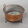 A copper pot, 19th century.