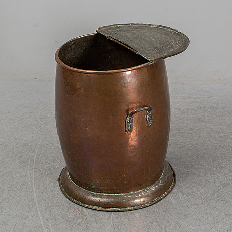 A ca 1900 copper barrel.