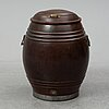 A copper barrel, 19th/20th century.
