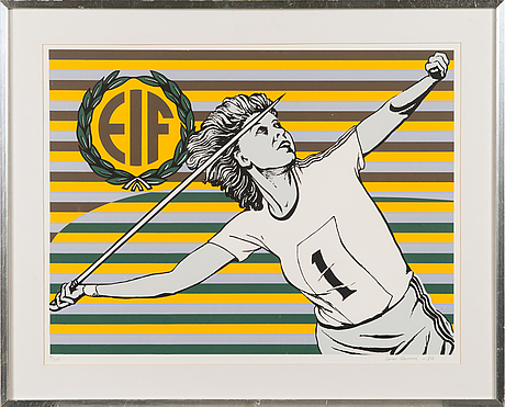 Sam vanni, serigraph, signed and dated -84, numbered 9/100.