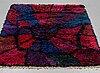 "Viola grÅsten, a rug, ""atom"", knotted pile, ca 141,5-144 x 120,5-121,5 cm."