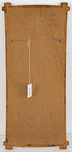 A teak framed mirror, 1950/60s.