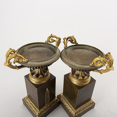 Tazzor, ett par, empirestil, 1800-talets andra hälft.