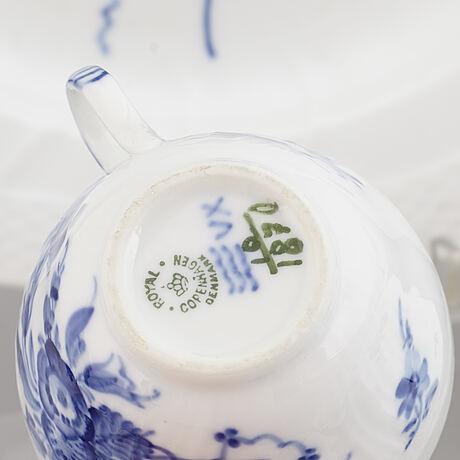 A 'blå blomst' royal copenhagen coffe service, denmark, 20th century.