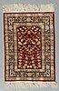 Matto, silk, hereke, possibly, ca 63 x 46 cm.