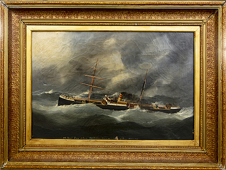 Edward adam, a signed and dated oil on canvas.