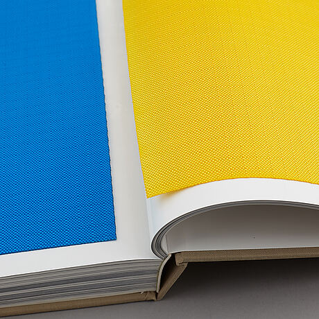 Christo & jeanne-claude, 2 volume book project with fabric application. published in 1998.