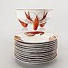 Alf wallander, 13 pieces crayfish service from.