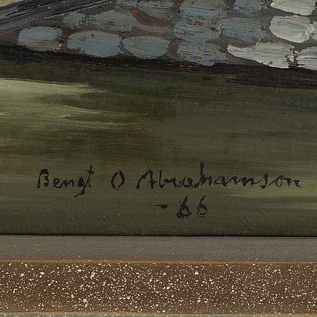 Bengt olov abrahamsson, oil on canvas, signed and dated -66.