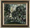 Tom krestesen, oil on paper-panel, signed and dated -67.