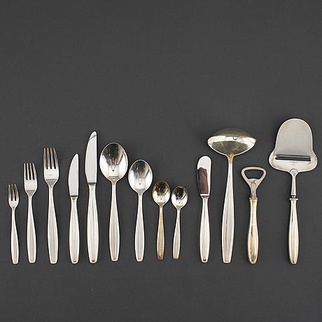 A part 'parad' silver cutlery, by sven arne gillgren, gab, stockholm, 1950/60s (79 pieces).