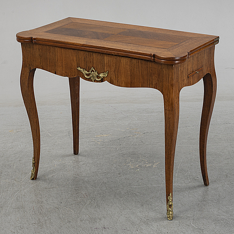 A swedish rococo folding top game table by johan wilhelm metzmacher (master in stockholm 1769-1783).