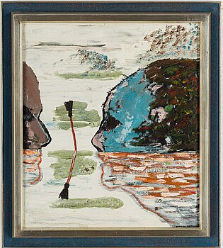 HANS WIGERT, oil on canvas, signed and dated 1968 verso.