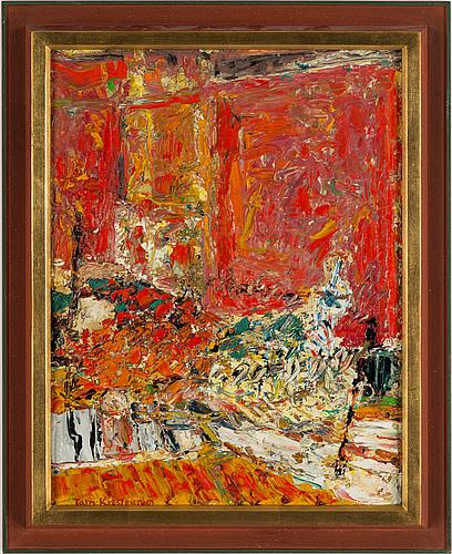 Tom krestesen, oil on panel, signed and dated -67.