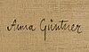 Anna gÜntner, oil on canvas, signed  verso.